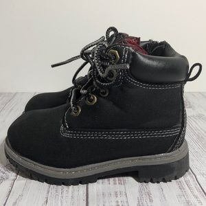 Faded Glory Black Boots Toddler Size 7